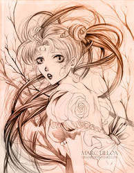 Princess Serenity Sketch by Giname