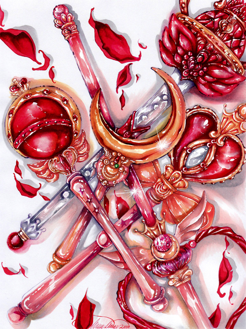 Sailor Moons Weaponry by Giname