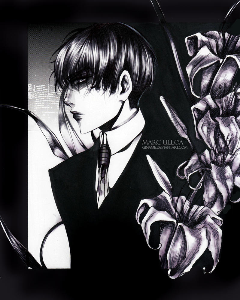 Black Lilies by Giname