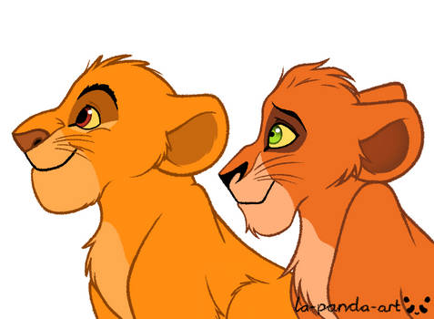 Young Mufasa and Scar