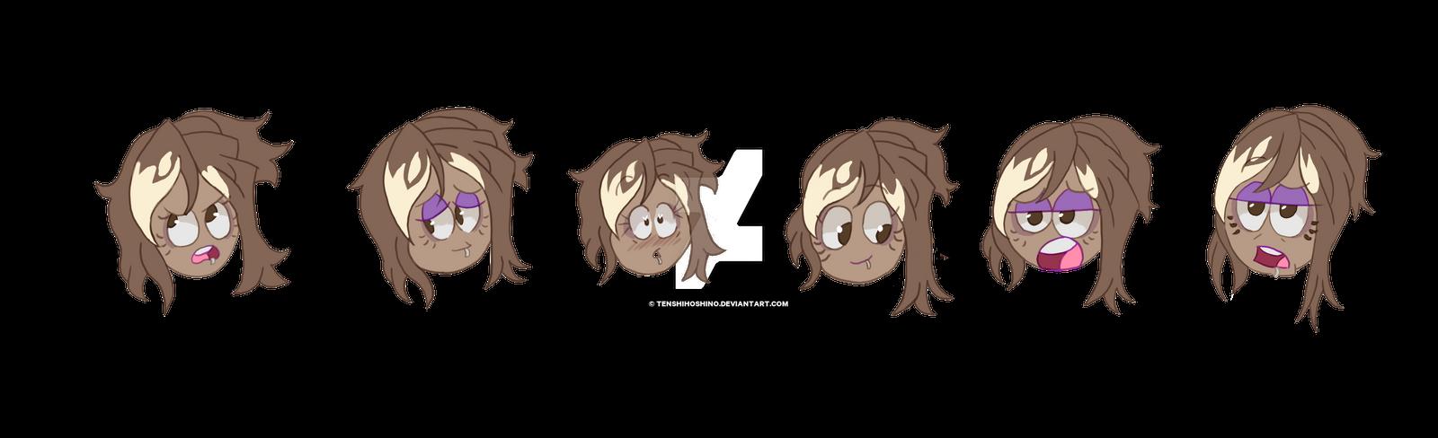 Selena Cartoony expressions by TenshiHoshino