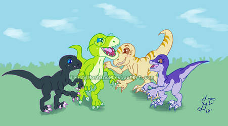 Request for lpallad Dino Family by TenshiHoshino