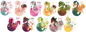 Fruity Primal Plant Ponies {Flat Price OPEN}