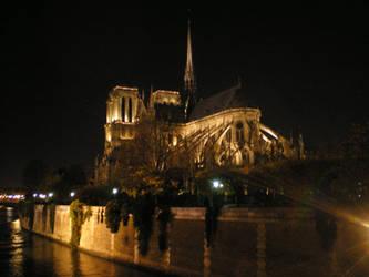 Notre-Dame de nuit by krokette