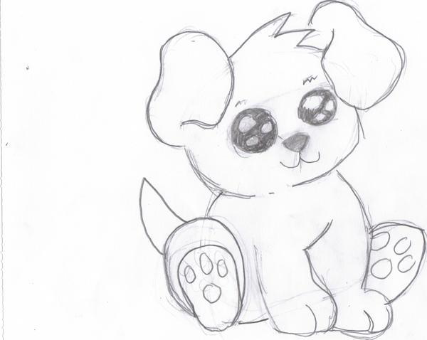 Cute Dog Courtesy of Dragoart by KreationeDragoart Drawings