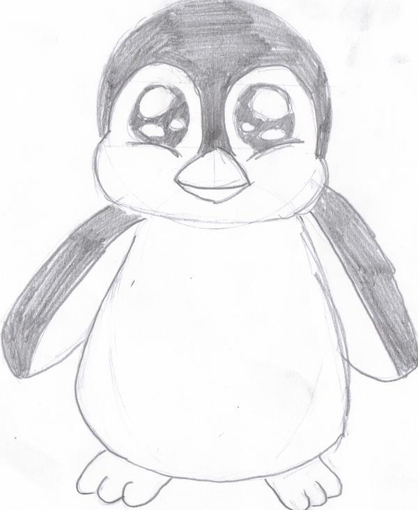 Penguin  Courtesy of Dragoart by KreationeDragoart Drawings