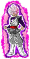 Black Goku SSJ Rose aura #2 by garu0212