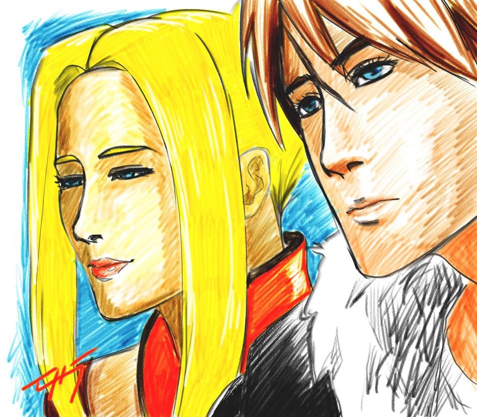 FF8 Quistis and Squall by zuntxuj