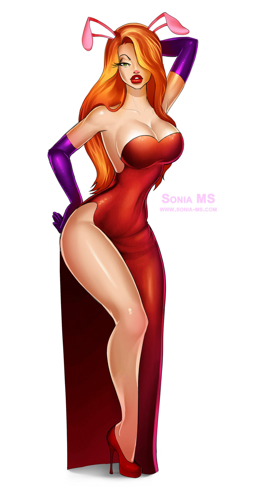 Jessica Rabbit with PSD by SoniaMatas on DeviantArt