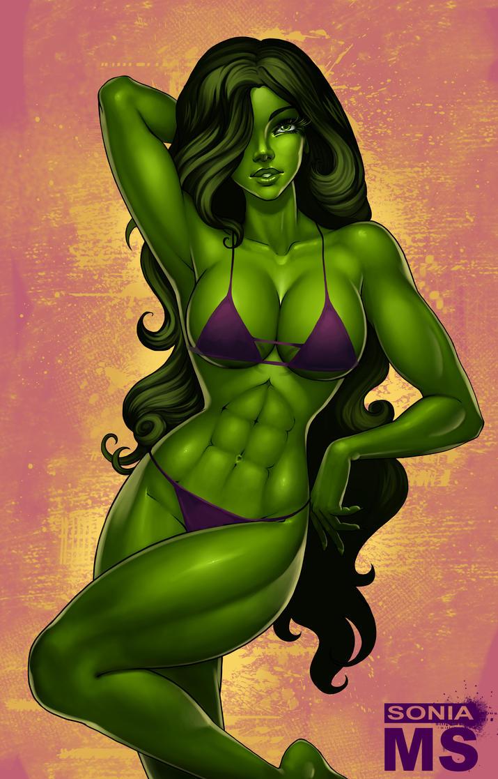 She Hulk By Soniamatas On Deviantart