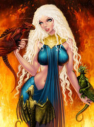 Khaleesi, the Mother of Dragons by SoniaMatas