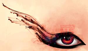 Ink eyelashes by SoniaMatas