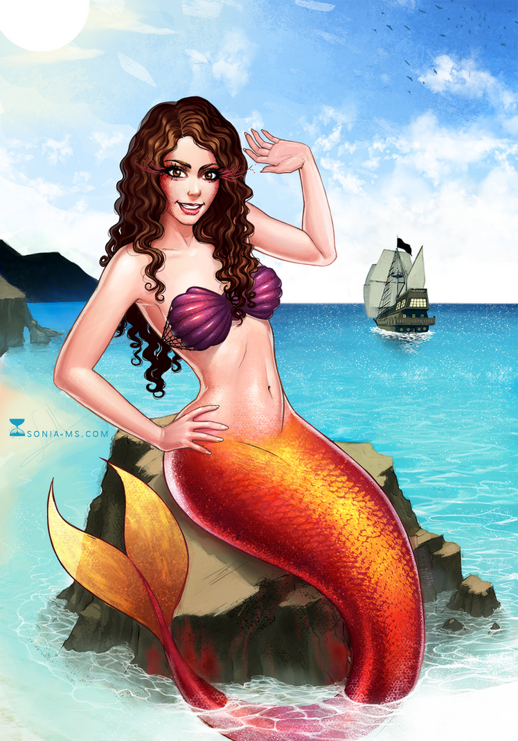 Commission: Me as mermaid :D by MSonia