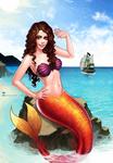 Commission: Me as mermaid :D