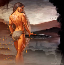Commission Pawel: Amazon warrior 1 by SoniaMatas