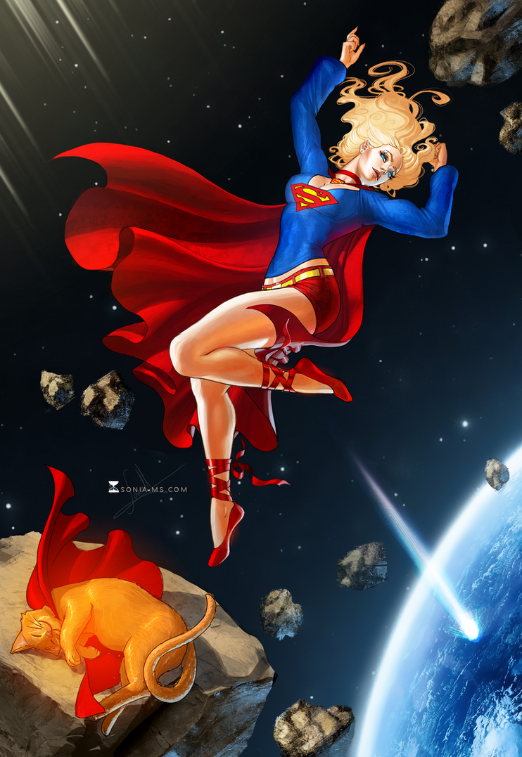 Commission Ted - Supergirl by MSonia