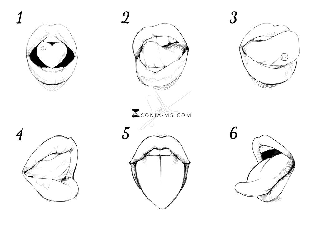 Lips and tongues 2 by SoniaMatas