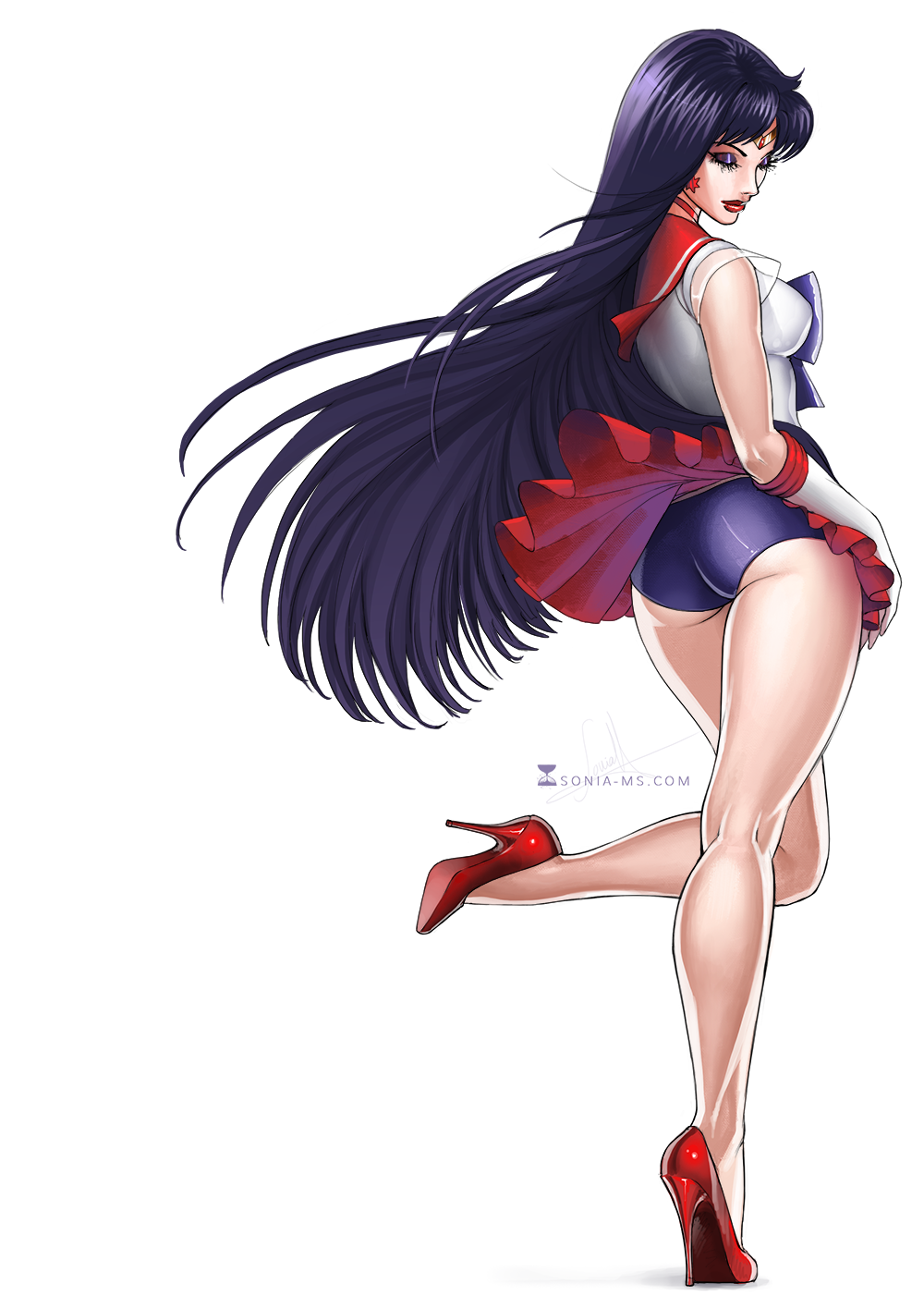 Commission: Sailor Mars by SoniaMatas on DeviantArt