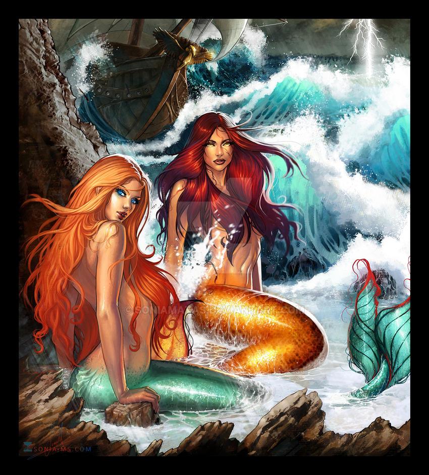 Mermaids By Soniamatas On Deviantart