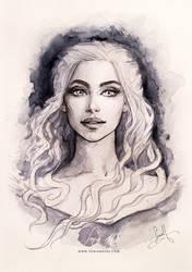 Khaleesi portrait  by SoniaMatas