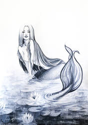 Ink mermaid by SoniaMatas
