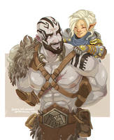 Grog and Pike by SofieWikstromArt
