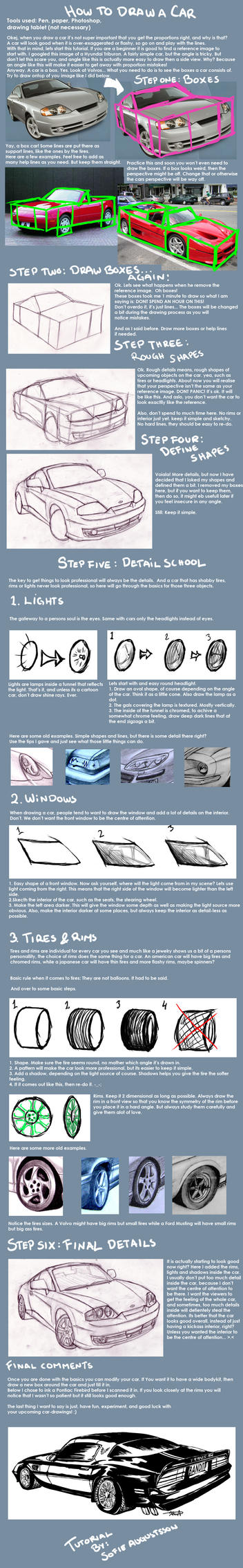 Car Tutorial by ArtOfAProcrastinator