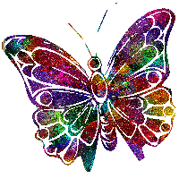 Perfect Rainbow Butterfly PNG by SugarPaula