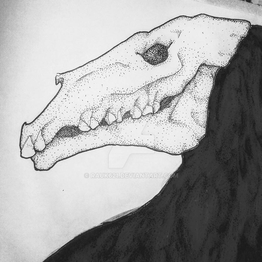 horse skull (alt death) by Rauk621