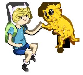 Finn and Jake pixels by FrayedEntity
