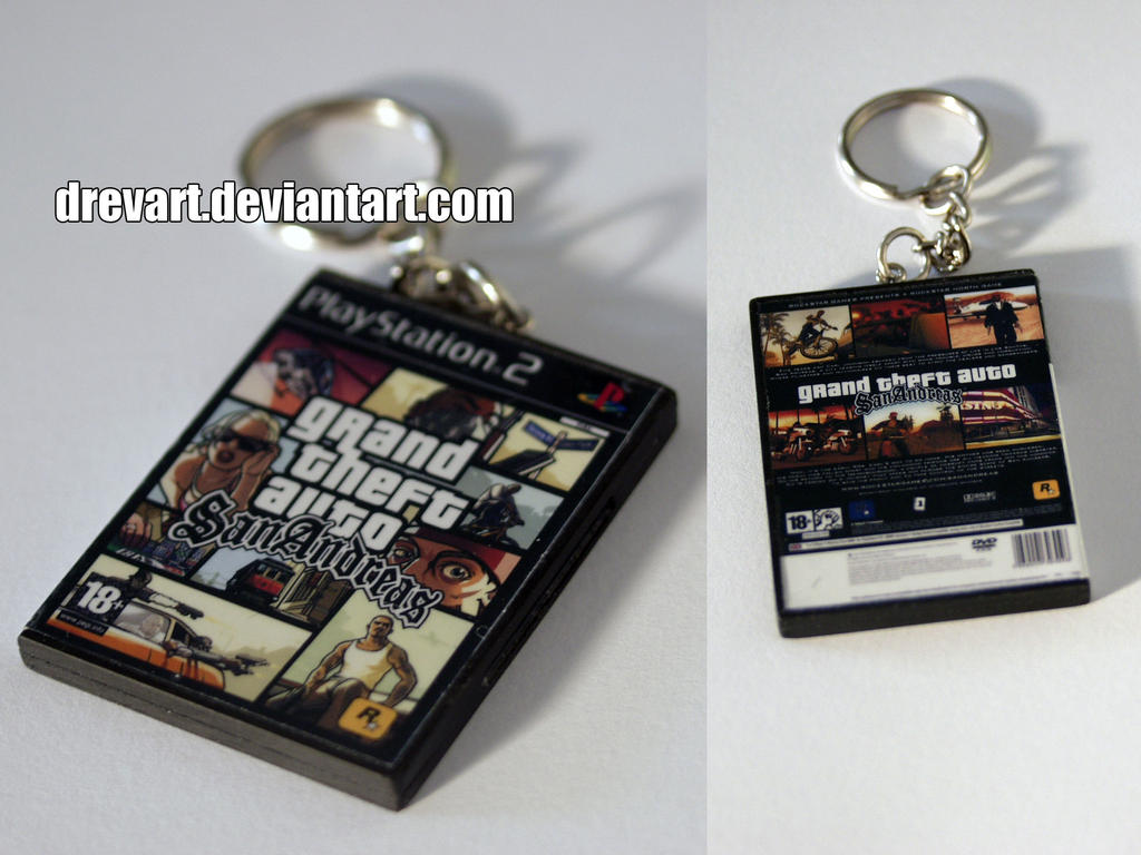 Grand Theft Auto: San Andreas (PS2) Keychain by Drevart on