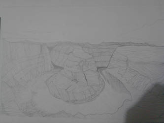 Landscape Drawing by Guiding-Heart