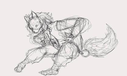Fox Tribe Initiate Sketch by Guiding-Heart