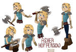 Male!Astrid - Asher Reference sheet