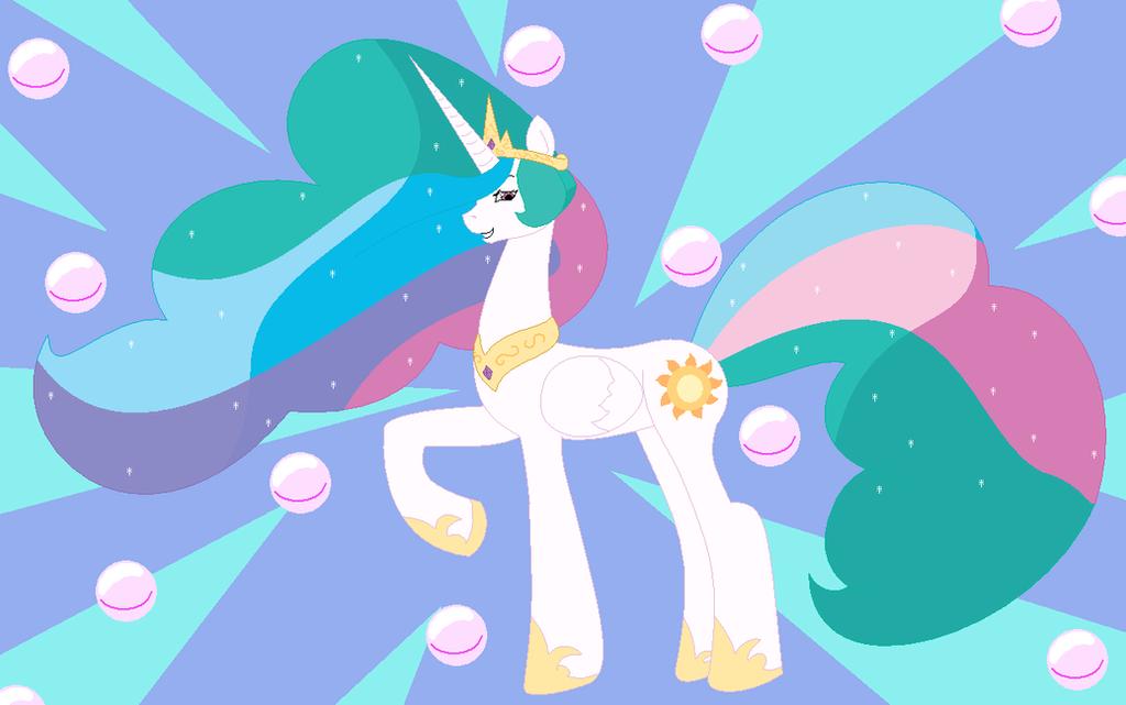Glamorous Princess Celestia by Two-Ton-Neko