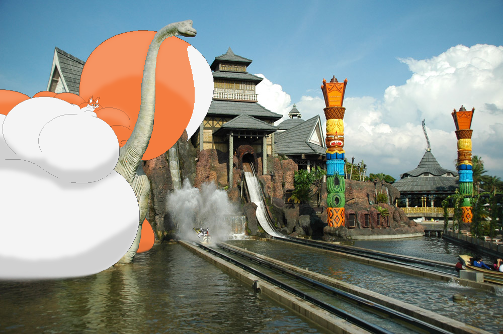 Chu at Leofoo Village Theme Park (Photomanip) by Two-Ton-Neko