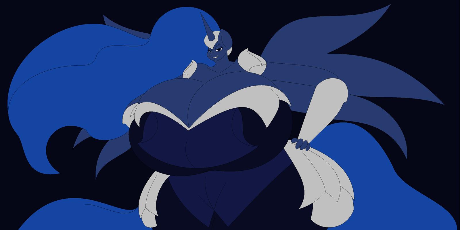Nightmare Luna by Two-Ton-Neko