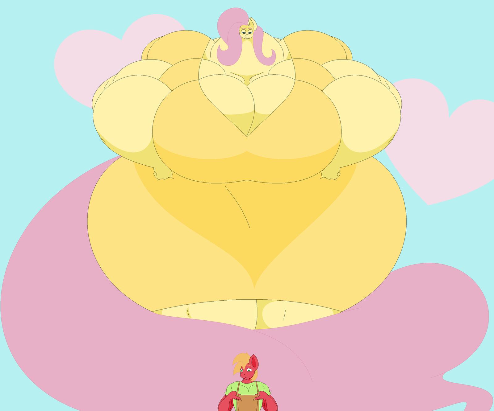 Big Mac's Big Ladies - Fluttershy by Two-Ton-Neko