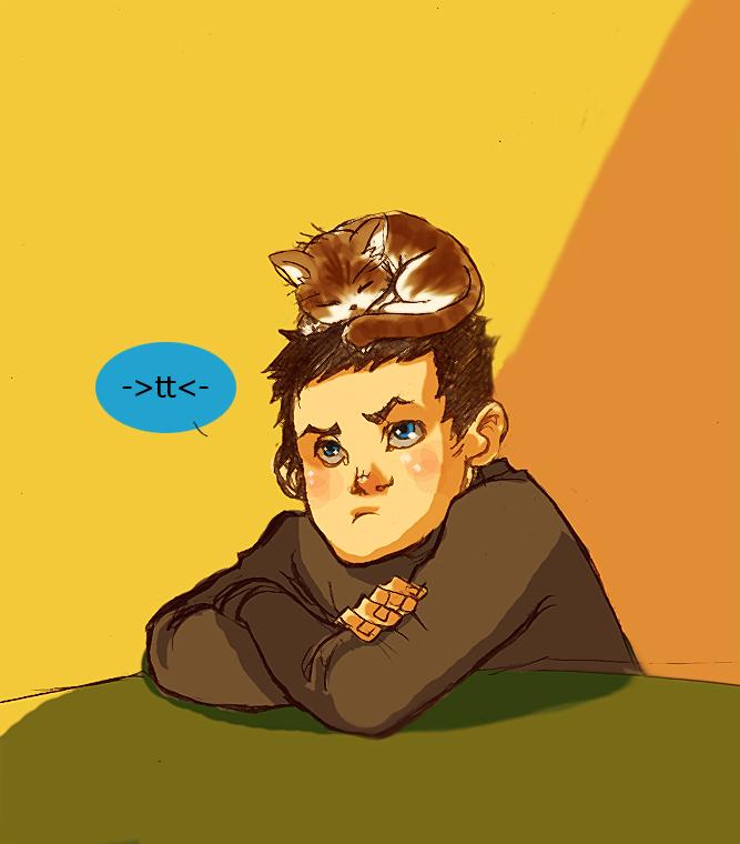 Damian has a kitten by lebzpel