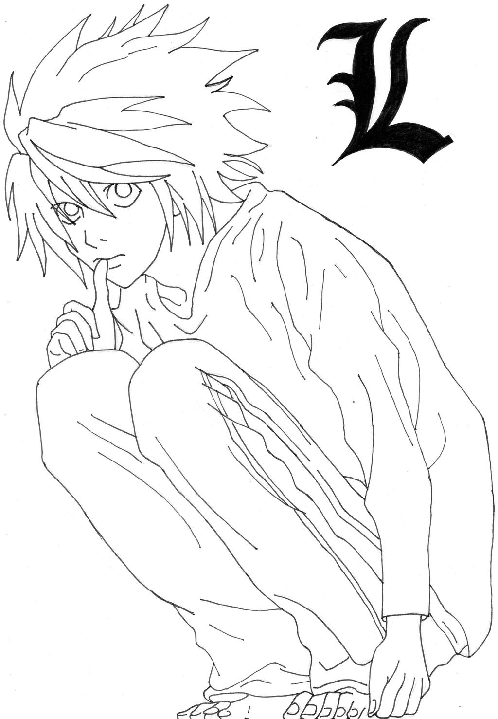 deathnote coloring pages - photo#14
