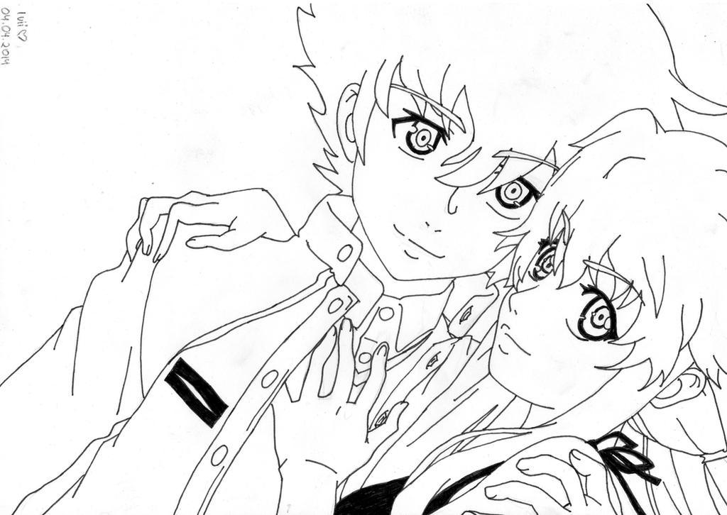 Yuno And Yuki (lineart) By IviiLikePink On