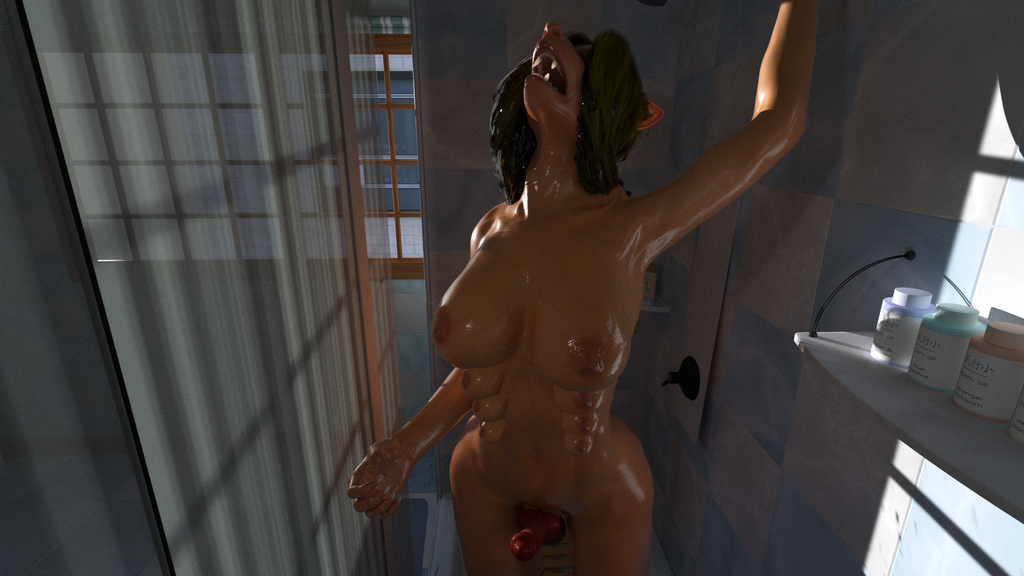 Sarah in Shower