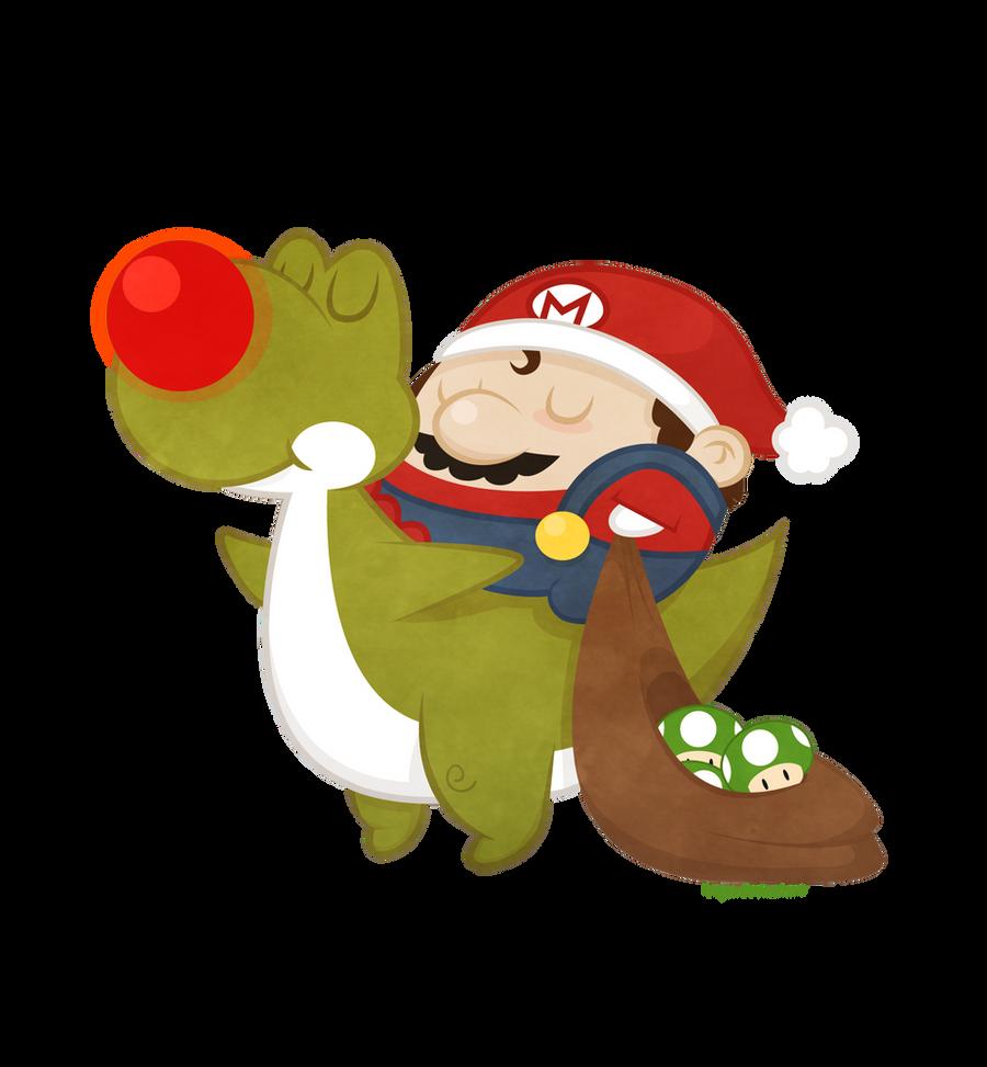Christmas Mario Png.Mario Christmas By Beyx On Deviantart