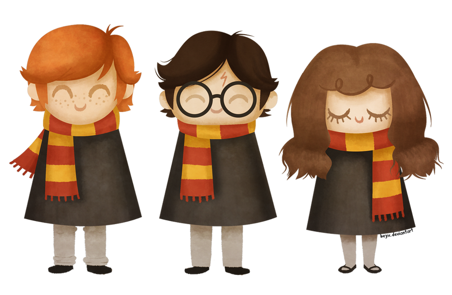 Ron, Harry and Hermione by beyx on DeviantArt