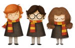 Ron, Harry and Hermione