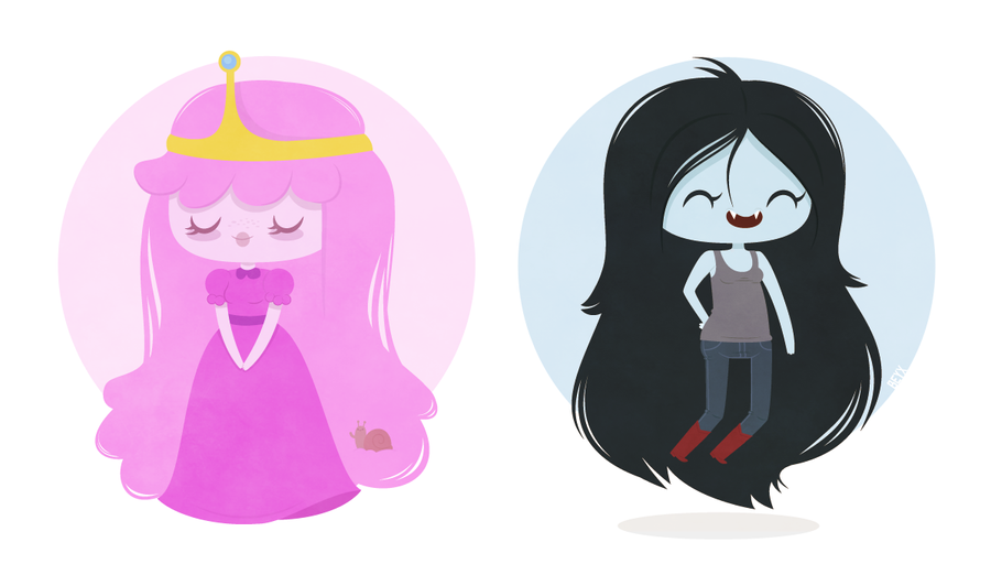 Marceline and PB by yettii on DeviantArt