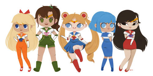 Sailor Scouts by beyx