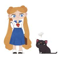 Usagi and Luna by beyx
