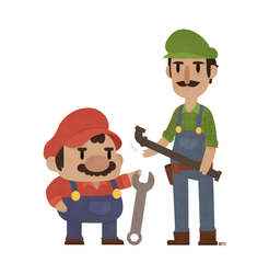 Super Mario Bros. by beyx