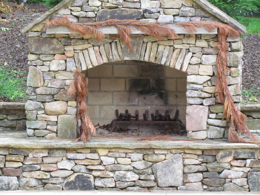 outdoor fireplace by triforceofterror on DeviantArt